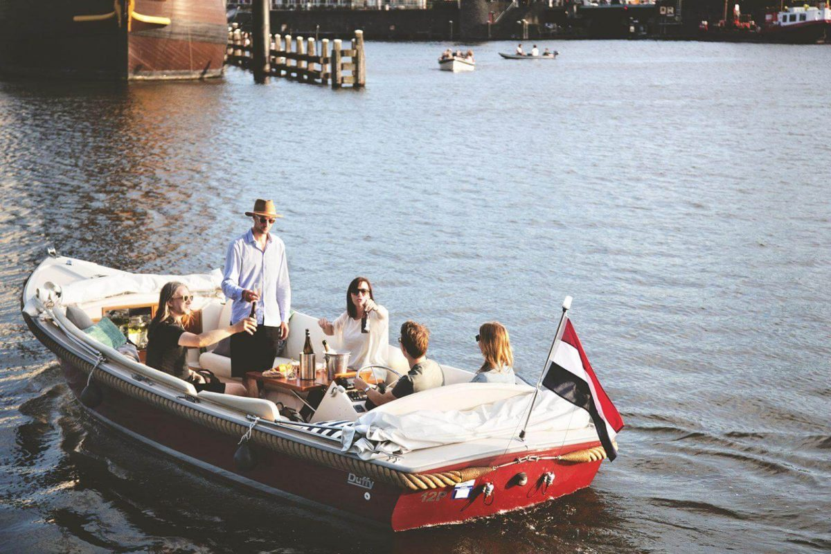 Boat and Bike in Amsterdam