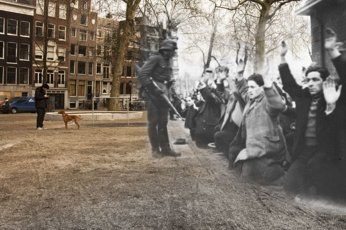 Jews on their knees for the nazis in Amsterdam