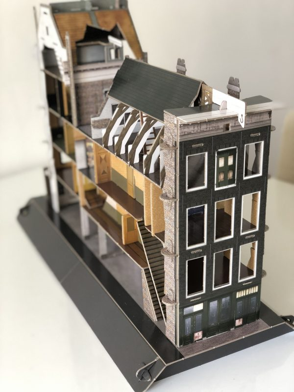 Anne Frank House on scale., Anne Frank Virtual Tour
